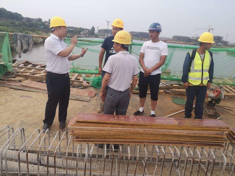 公司副總經理呂文視察海昏(旅遊景觀)大道工程項目