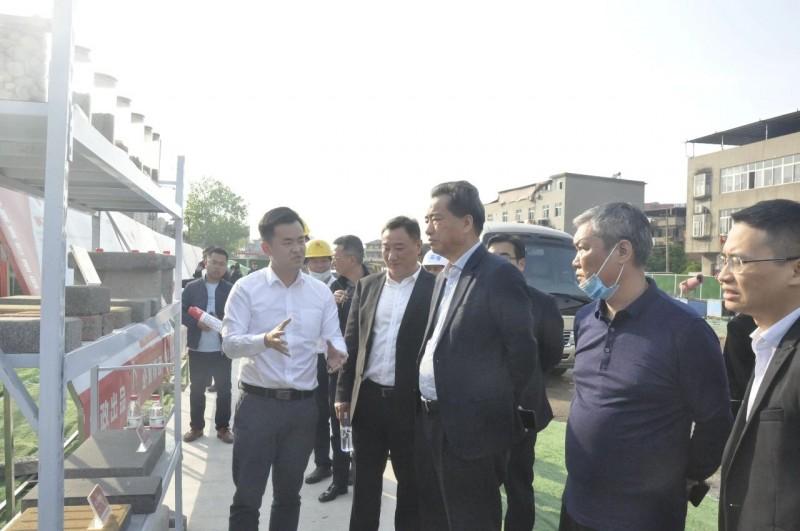 集团党委书记、董事长邓建新一行莅临公司在建项目调研指导工作